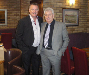 Kevin Ratcliffe with Club Secretary John Batten